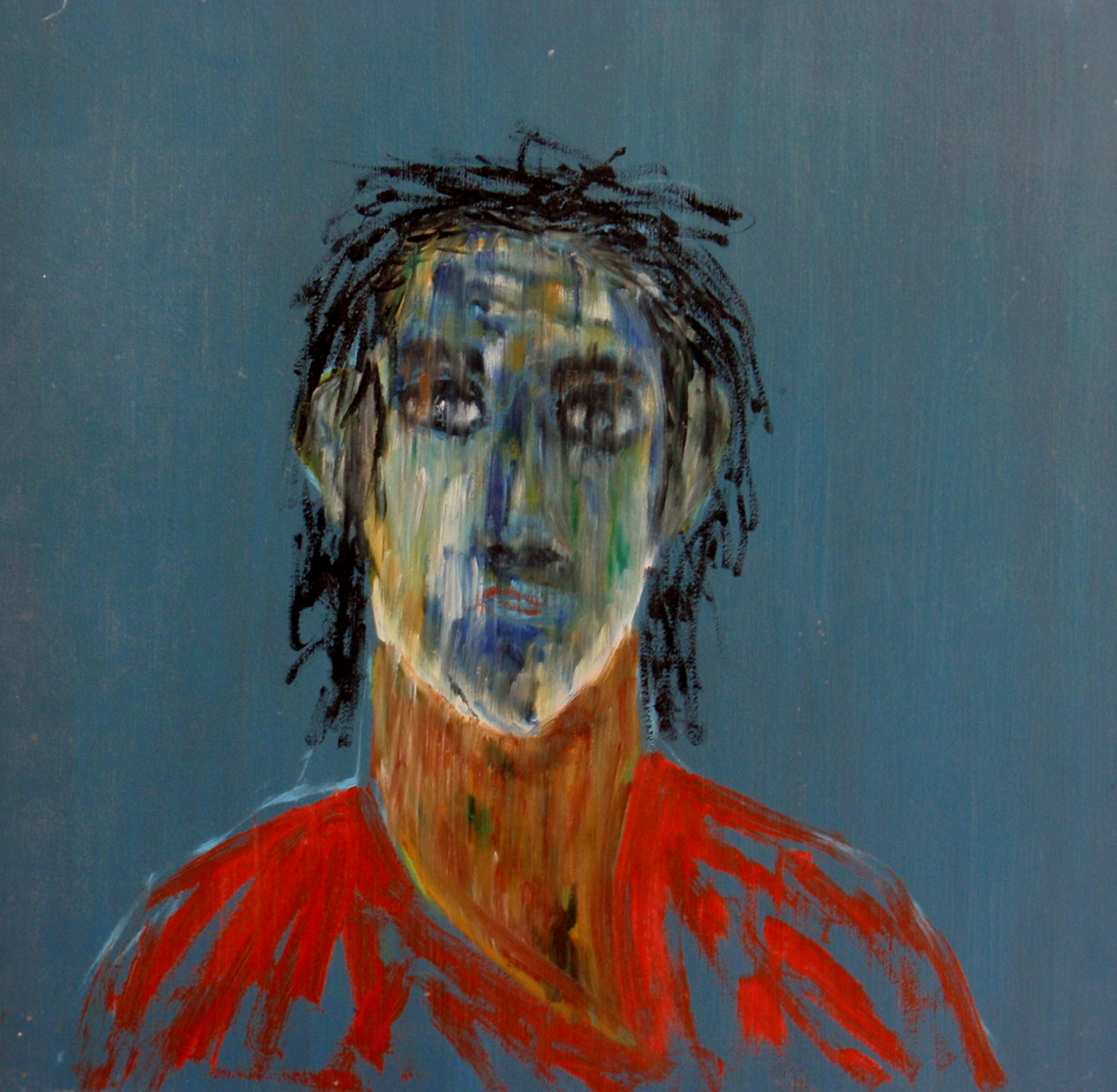1986. Adam. Oil on panel. 40x40 cm.