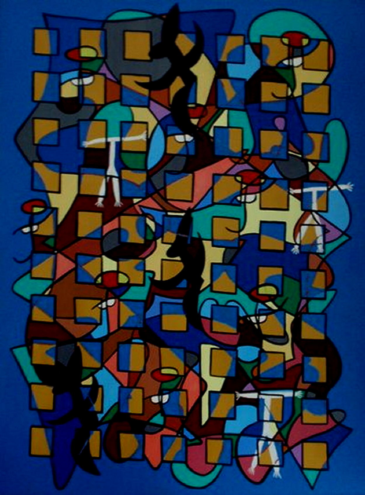 1986. De dans/The dance. Oil on panel. 80x60 cm.