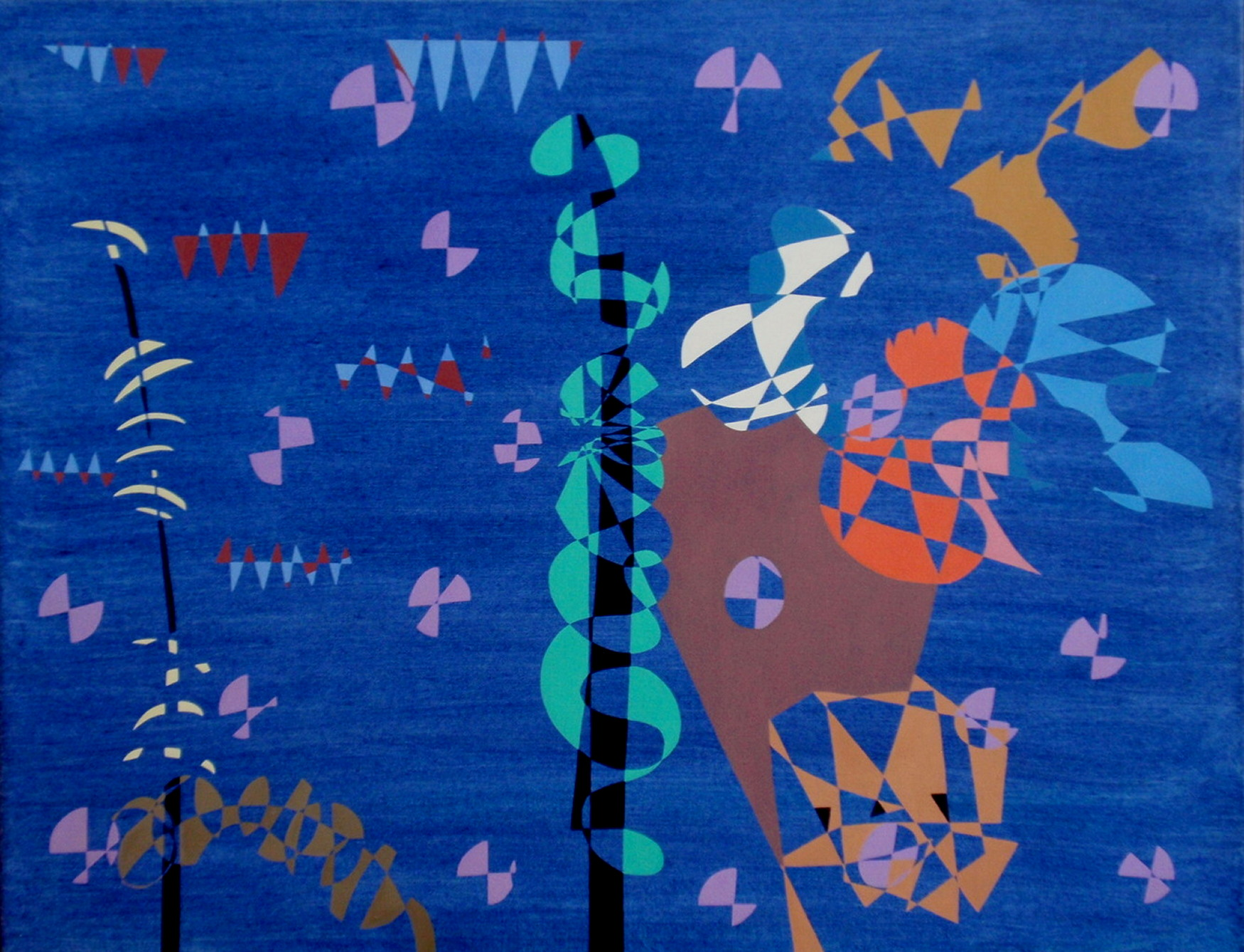 1989. Feest in de dierentuin/Party at the zoo. Oil on canvas. 70x90 cm.