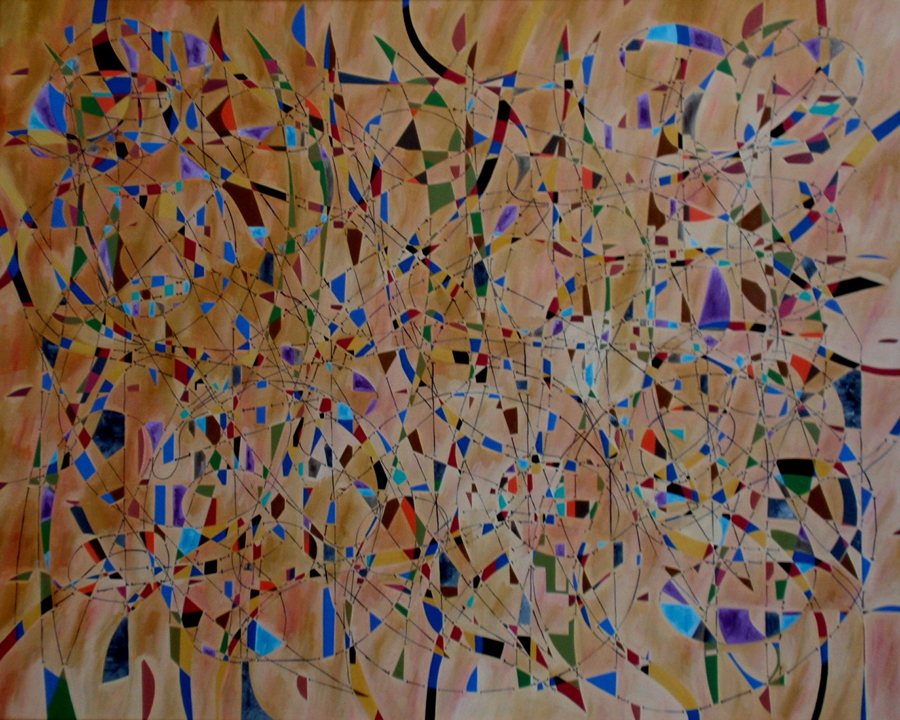 1990. Constellatie/Constellation. Oil on canvas. 80x100 cm.