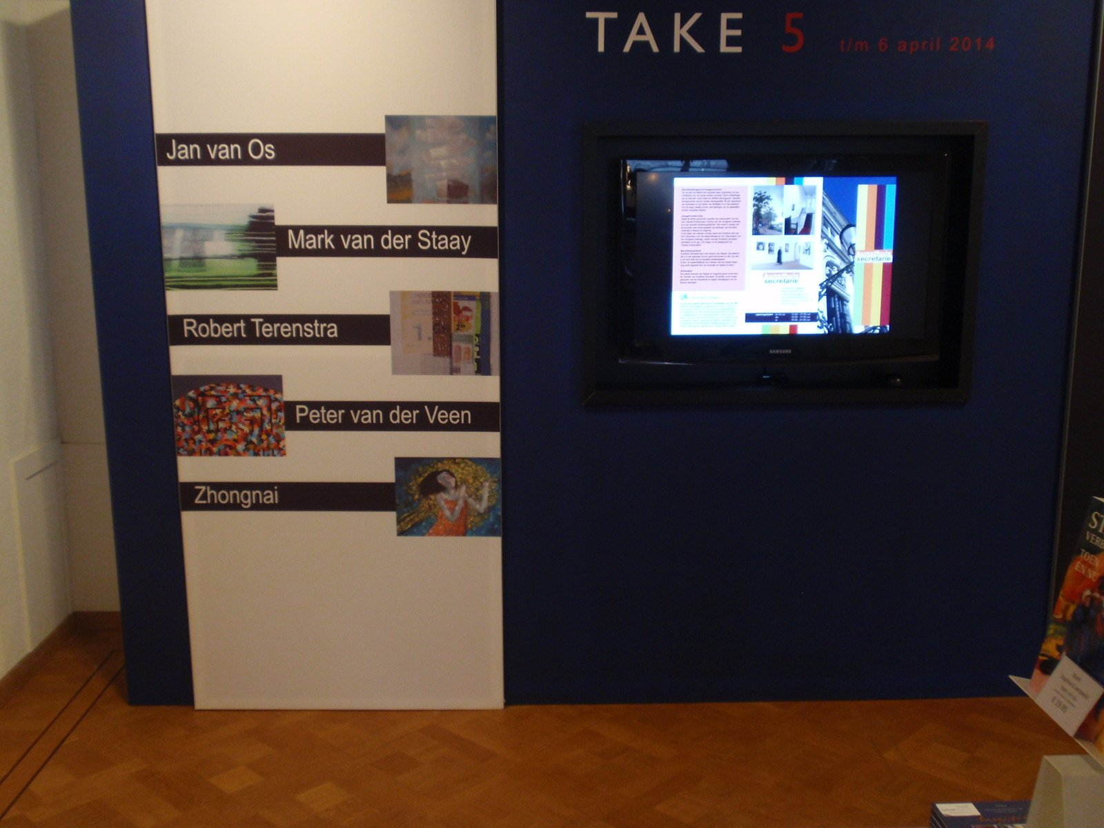 2014. Take 5 expo Secretarie, Meppel.