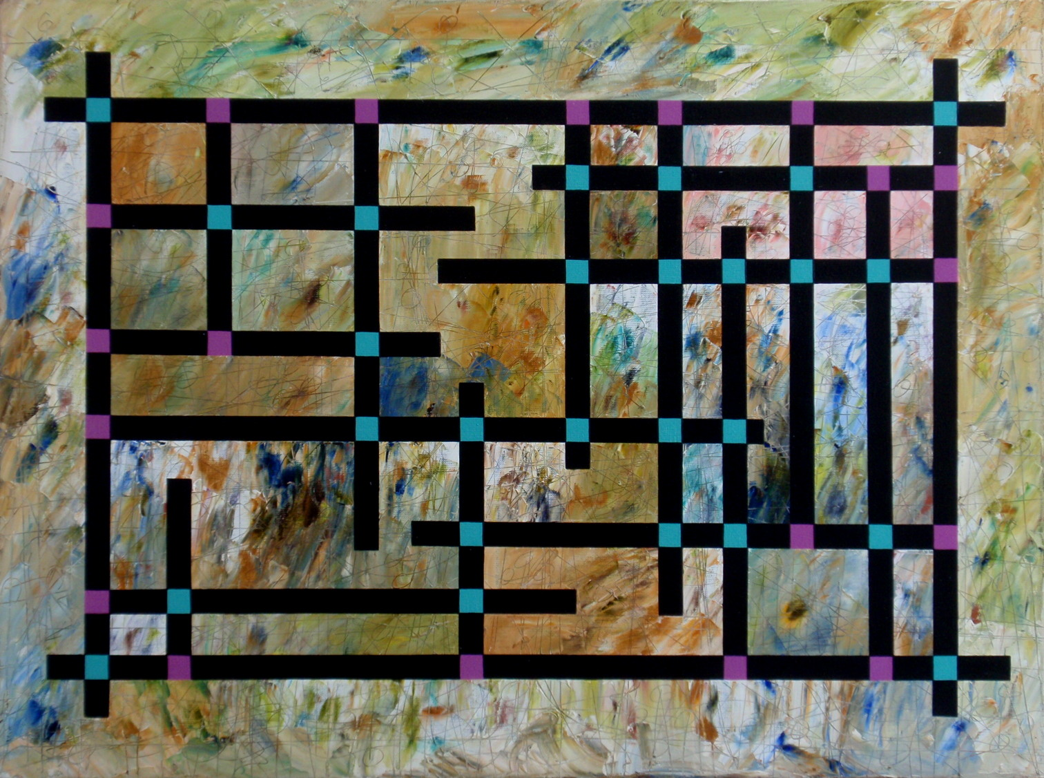 2005. Denkraam/Mindfullnes.  Oil on canvas. 60x80 cm.