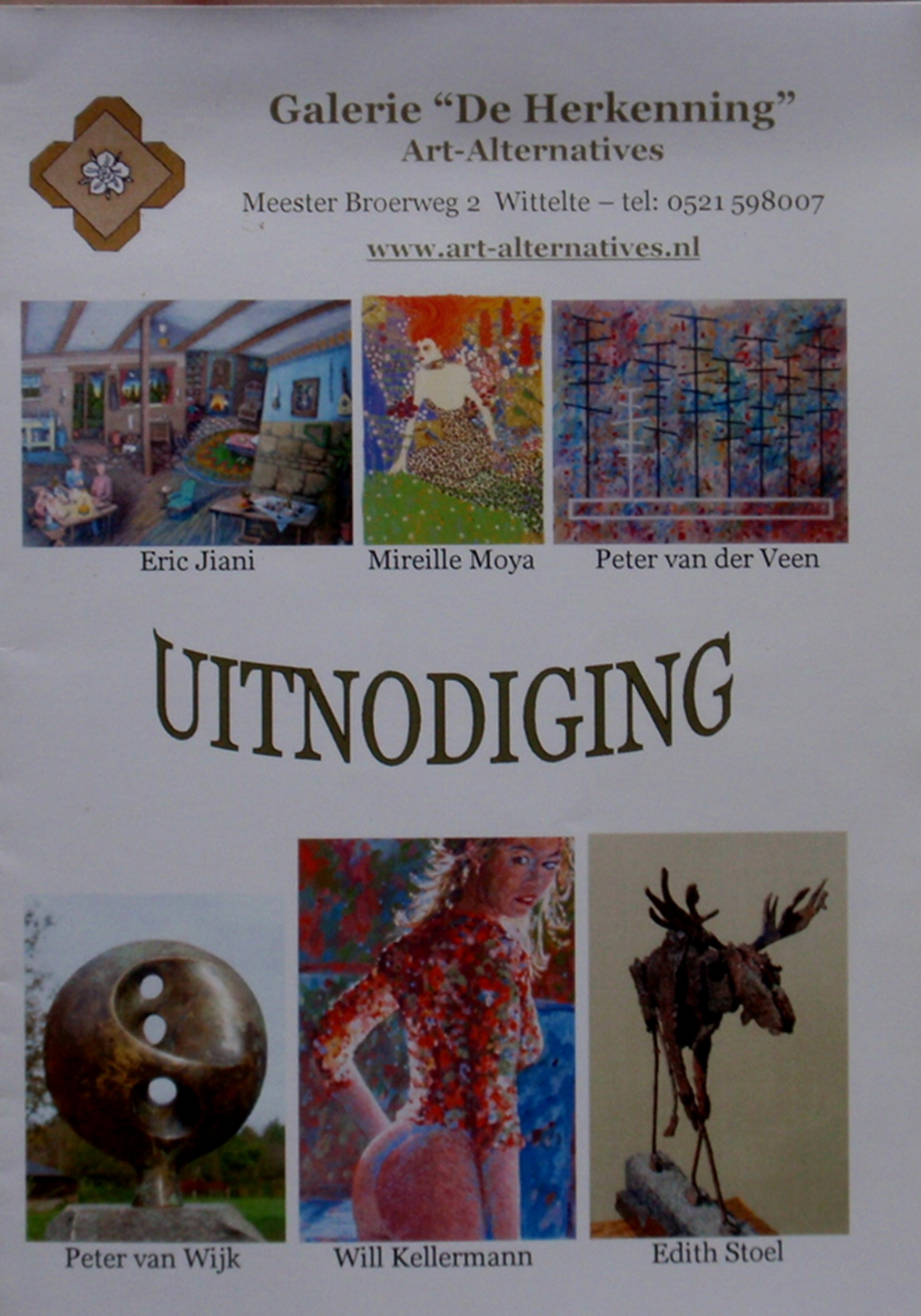 2006. Uitnodiging Preview Edinburgh, galerie De Herkenning.