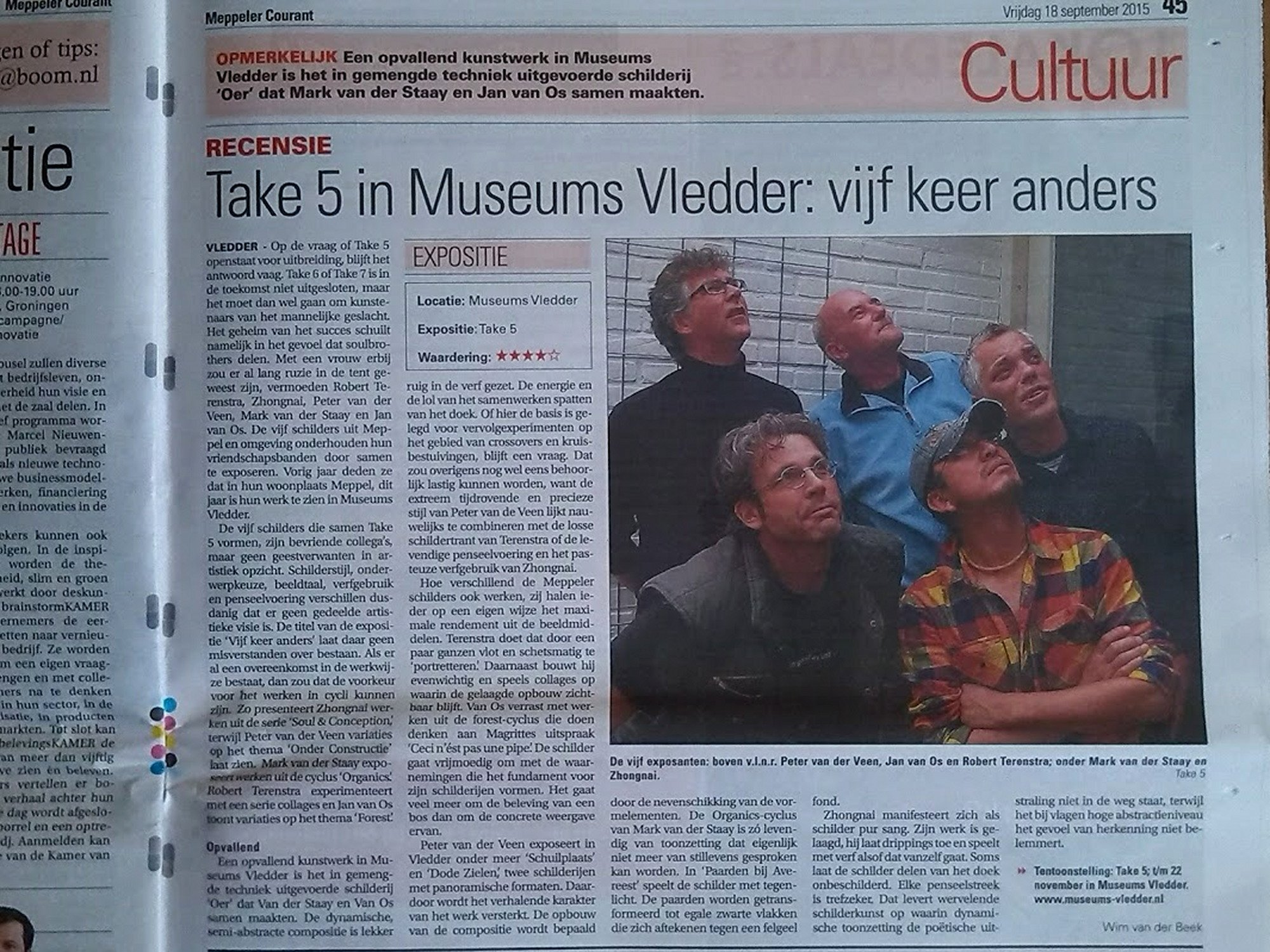 2015. Take 5 expo, Museums Vledder.